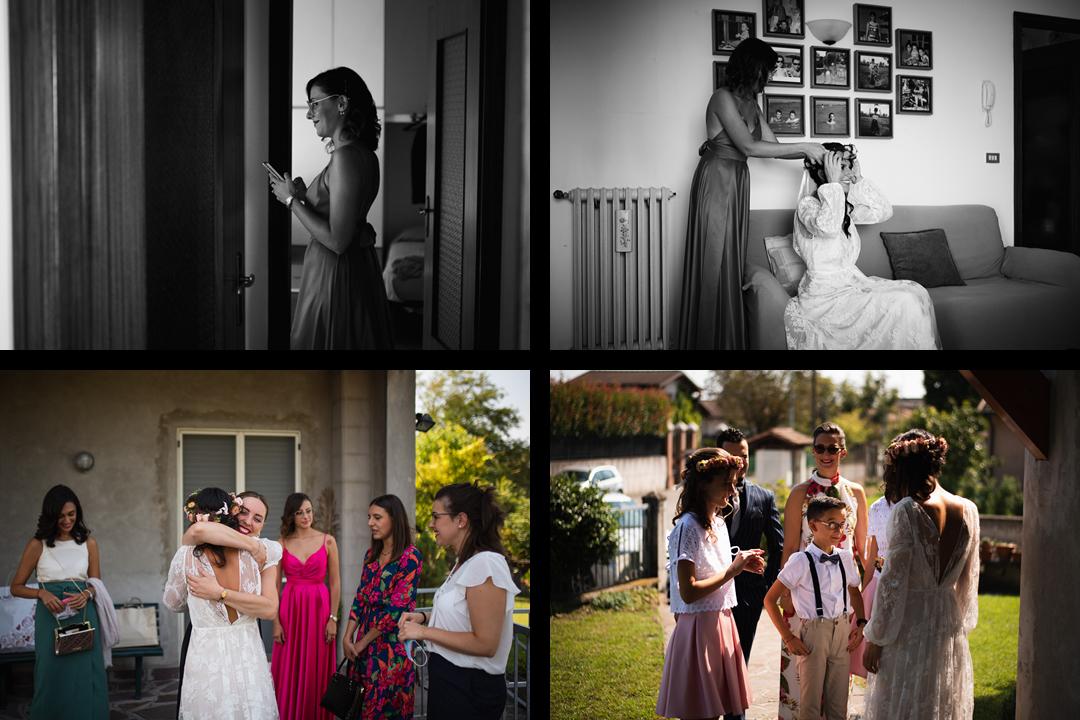 Fotografo matrimonio Brescia Federico Rongaroli wedding reportage Lucia e Roberto abito da sposa fiori matrimonio5